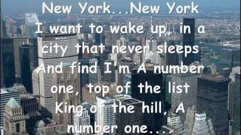 New York New York Frank Sinatra