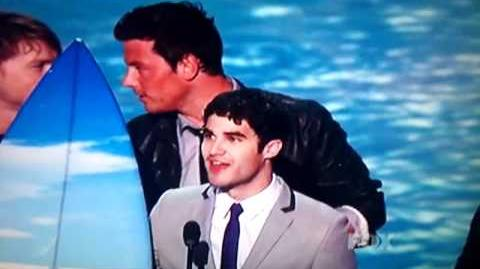 Darren Criss and Glee Cast at the Teen Choice Awards