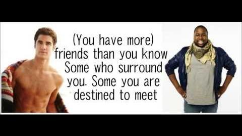 Glee -You Have More Friends Than You Know (with lyrics)
