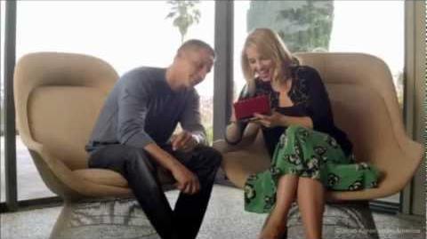 Dianna Agron & Jason Professor Layton Nintendo 3DS TV Comercial
