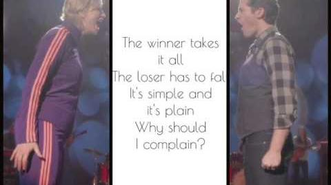 The winner takes it all glee lyrics