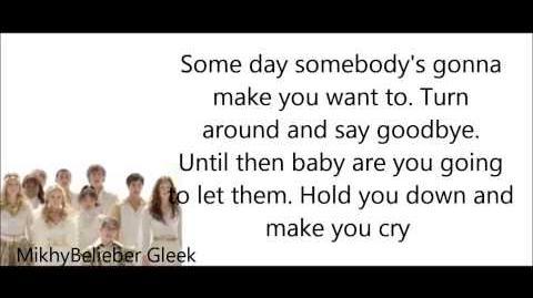 GLEE- Hold on (Lyrics)-0