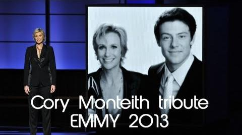 65° Emmy Awards - Jane Lynch Tribute for Cory Monteith GLEE 2013