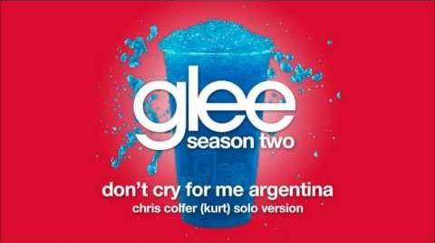 Don't Cry For Me Argentina (Kurt Solo Version) Glee HD FULL STUDIO