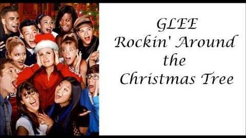 Glee - Rockin' Around the Christmas Tree (lyrics)