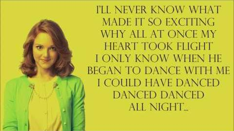 Glee 1x08 - I could have danced all night with lyrics