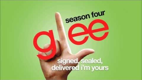Signed, Sealed, Delivered I'm Yours Glee HD FULL STUDIO