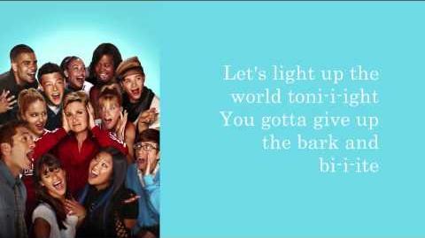Glee - Light Up the World (Lyrics)