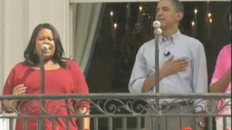Glee at the White House - National Anthem