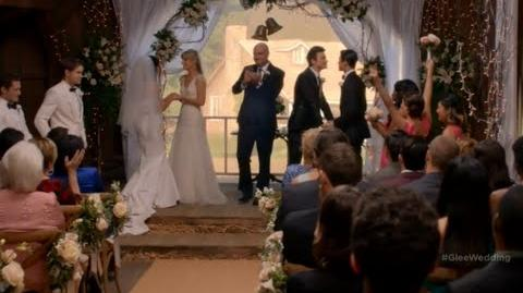 Glee - Brittana And Klaine Wedding And Vows ! (6x08) (HD)