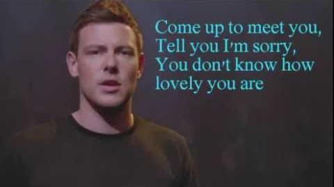 Glee The Scientist Lyrics