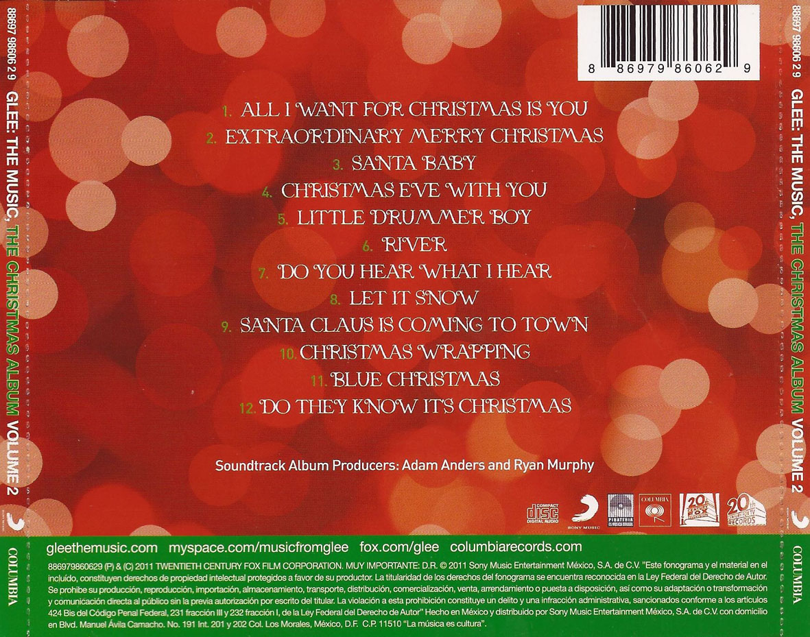 bso glee the music the christmas album volume 2 traserajpg