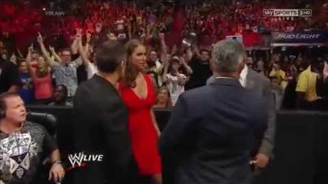 Stephanie Mcmahon gets arrested WWE Raw 07 21 2014