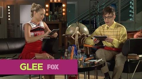 GLEE Glee Lounge Becca Tobin & Kevin McHale