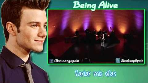 Glee - Being Alive Traducida Video-0