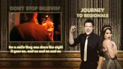 Glee - Journey to Regionals (Faithfully, Anyway Lovin', Don't stop believin' Video Lyrics