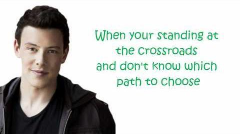 Glee I'll stand by you (lyrics)-1