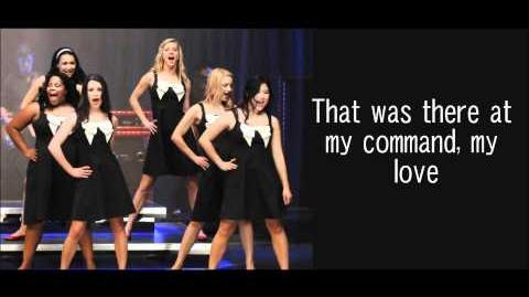 GLEE-The first time ever I saw your face with lyrics