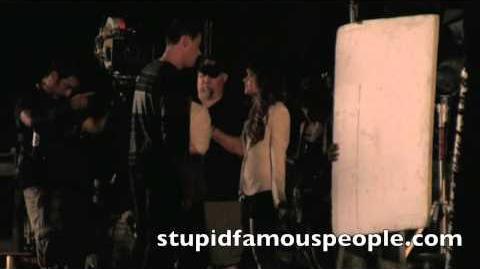 Lea & Cory film sad scene in Battery Park for Glee