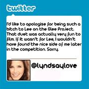 Lyndsay'sTweetToLee