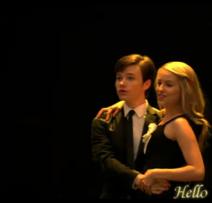 Glee Kurt and Quinn Hello by SkyeWall - Copy