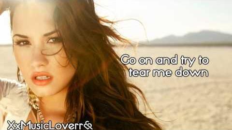 Demi Lovato - Skyscraper (Lyrics)