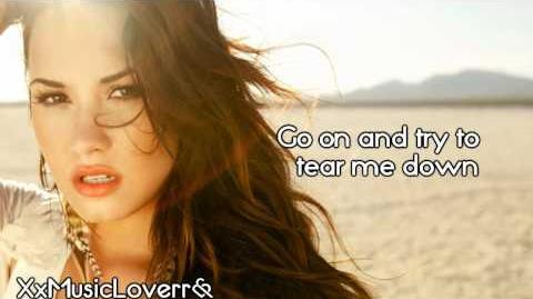 Demi Lovato - Skyscraper (Lyrics)