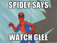Spidey-Says-Watch-Glee
