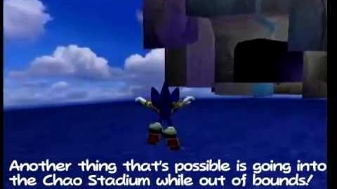 Sonic Adventure 2 Battle - Glitch - Go out of bounds in Chao Garden.