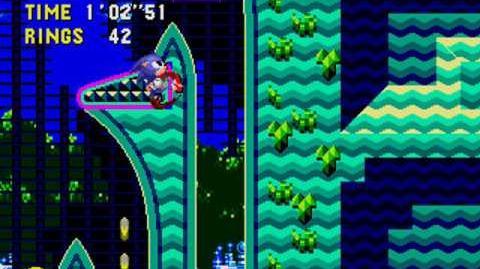 Sonic atascado en Collision Chaos Zona 3 - Sonic CD Glitch