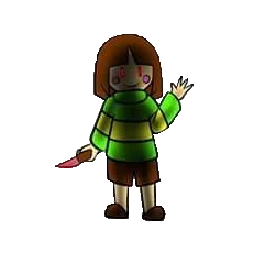 Chara's appearance on