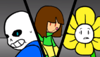 Chara vs Sans & Flowey (Battle)