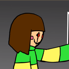 HATE Chara using the FILE 0 ability.