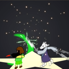 HATE Chara clashing with Asriel.