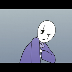 Part of Gaster's neck isn't colored in Love Part 2.