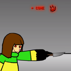 HATE Chara preparing to fight.