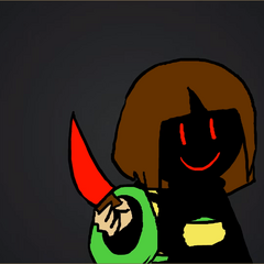 Chara's body continuously getting consumed by HATE.