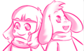 Chara and asriel doodle by camilaanims-da2vsrl.png