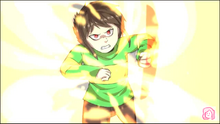 Chara attacking Asriel