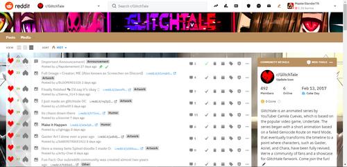 Glitchtale Subreddit