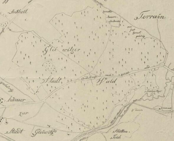 Plik:Karte Gleiwitzer Stadtwald 1812.jpg
