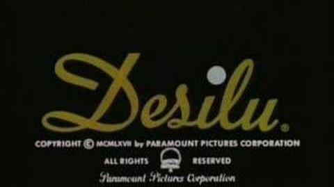 "Desilu ""Merging Circles"" Logo (1967) With Paramount Byline"