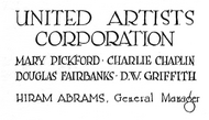 United Artists 1919
