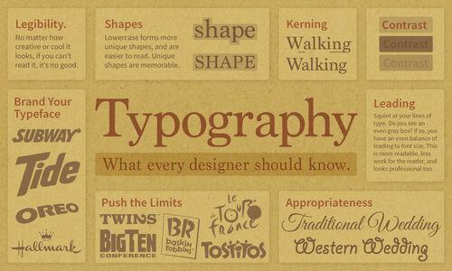 Infogr typography
