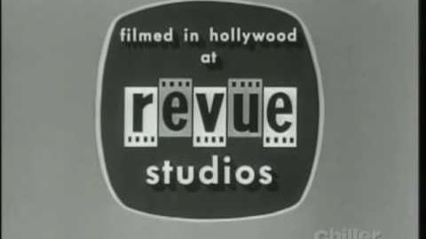 "Revue Studios ""A Shamley Production"" Blinking Negatives Logo"