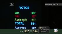 Votos - Impeachment - Votacao na Camara
