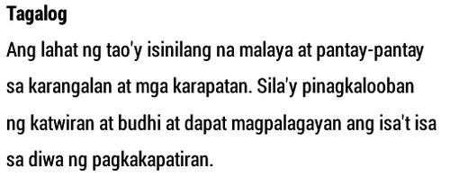 Tagalog Sample
