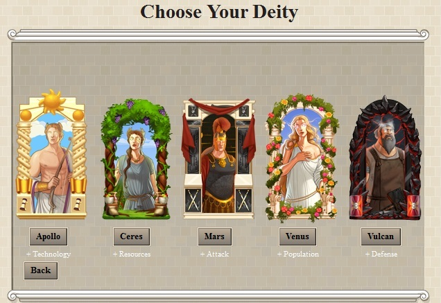 Deity Selection