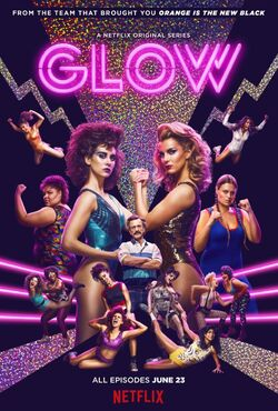GLOW promotional poster