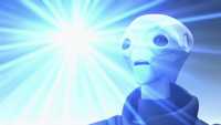 Saint Walker becomes a Blue Lantern